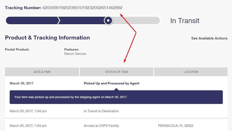 USPS Tracking Number| USPS International Mail Tracking