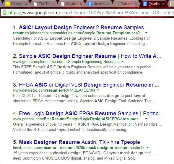 Ic Design Engineer Sample Resume 17 Sample For Experienced ...