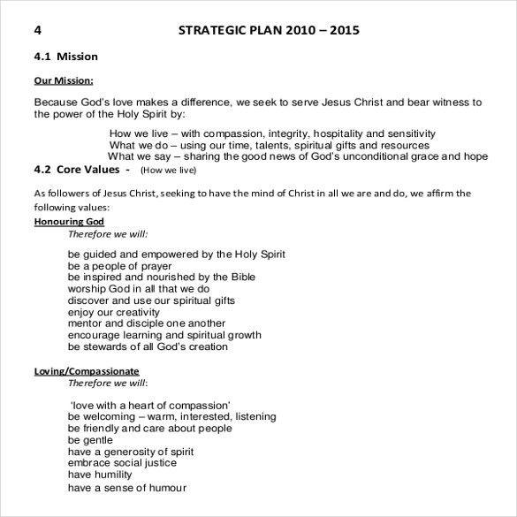 Church Strategic Plan Template - 3 Free Links Download | Free ...