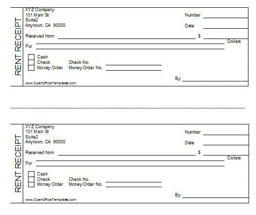 5 Free Sample Rent Receipt Templates – OpenOffice Writer Templates