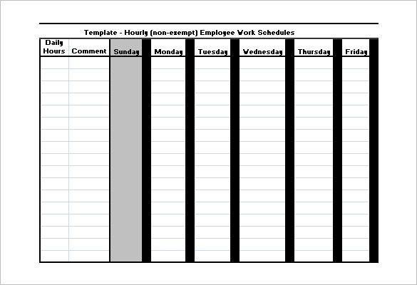 Employee Work Schedule Template – 10+ Free Word, Excel, PDF Format ...