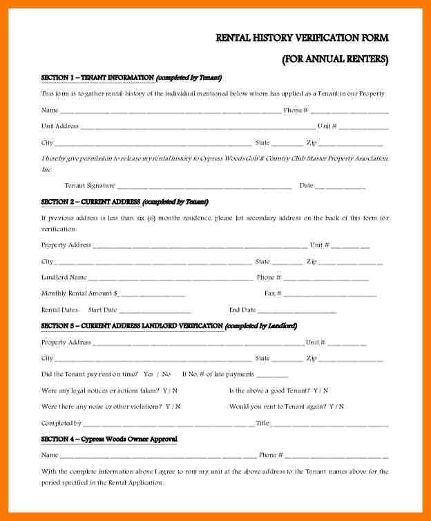 Stunning Renter Verification Form Ideas - Best Resume Examples for ...