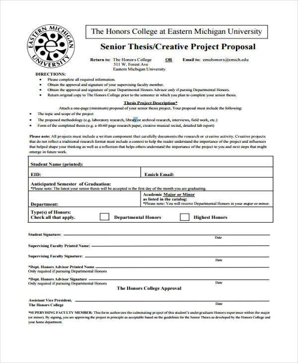 College Project Proposal Templates - 4+ Free Word, PDF Format ...
