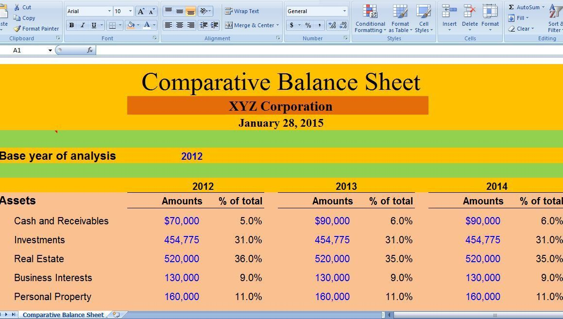 Comparative Balance Sheet serves as a monetary correlation from ...