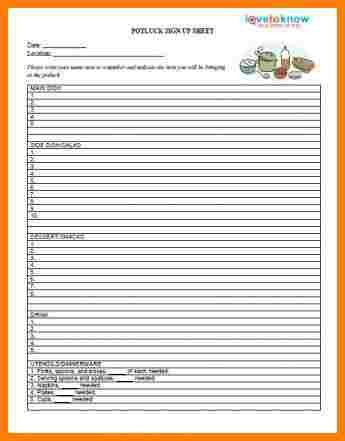 2+ potluck signup sheet template | letter format for