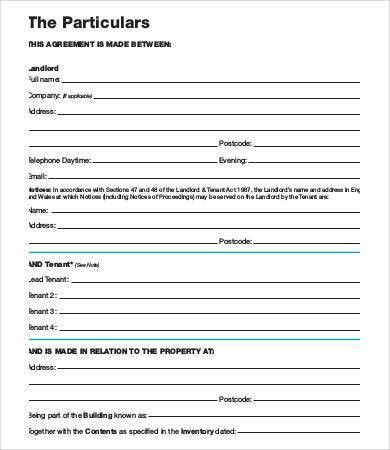 Tenancy Agreement Template - 8+ Free Word, PDF Documents Download ...