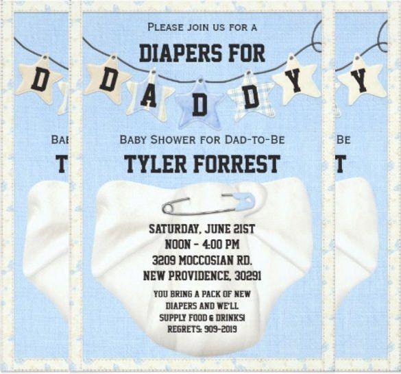 11+ Diaper Invitation Templates – Free Sample, Example, Format ...