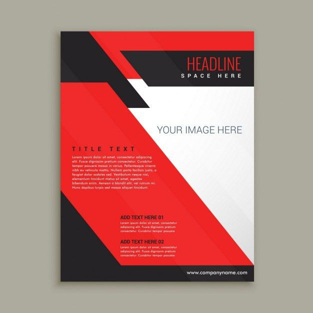 Red corporative brochure template Vector | Free Download
