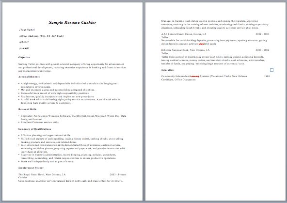 Resume Descriptive Words For Cashier Workflow Chart Template Word ...