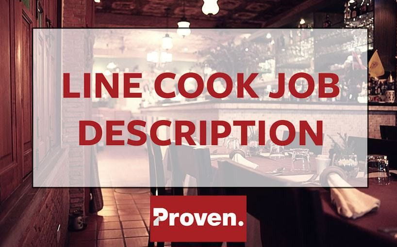 The Perfect Line Cook Job Description