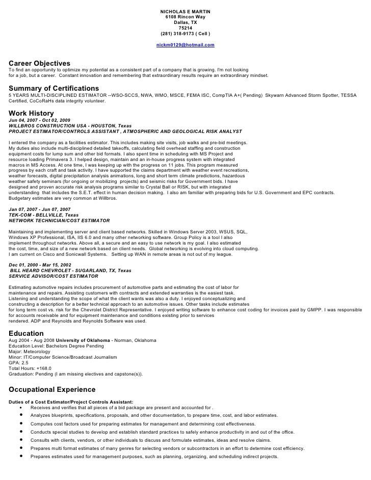 project cost controller resume financial controller resume samples ...