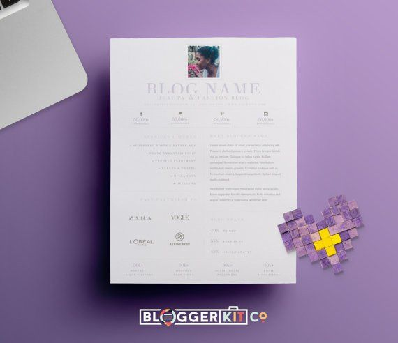 One-Page Media Kit Template | Press Kit Template | Electronic ...
