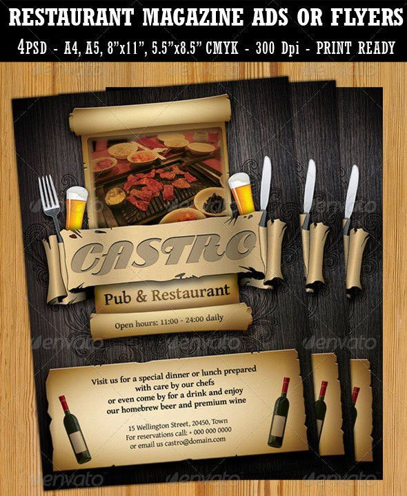 15 Best Restaurant Flyer Templates | Wakaboom