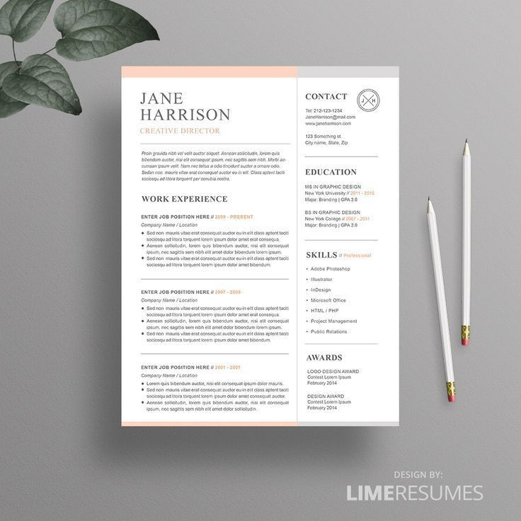 Iwork Resume Templates. 18+ One Page Resume Template - Ai ...