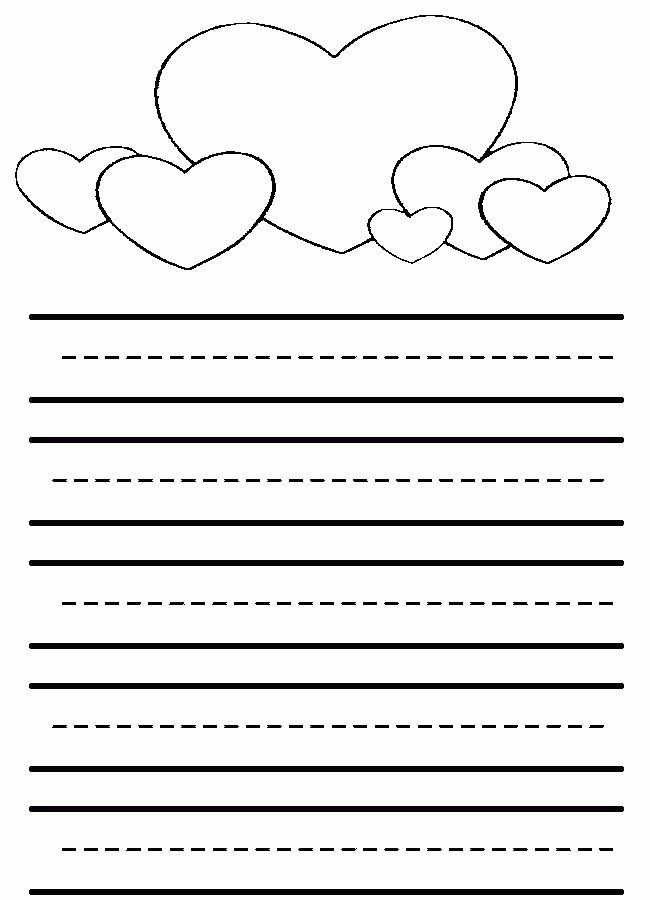 Heart Lined Paper | Kids | Pinterest | February holidays, Pre ...