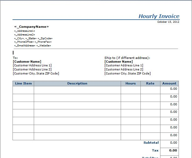 Employee Invoice Template | invoice | Pinterest | Invoice template ...
