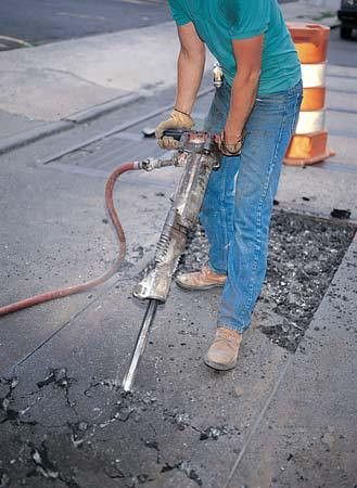 kinetic energy: worker using a jackhammer - Students | Britannica ...