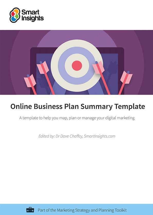 Online Business Plan Summary Template | Smart Insights