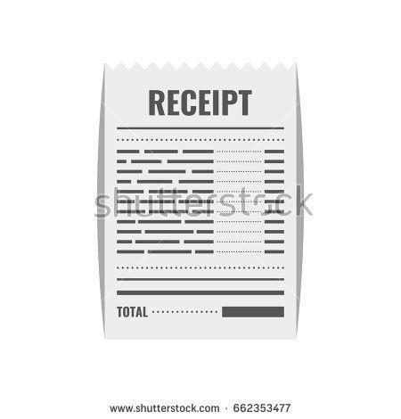 Receipt Icon Invoice Sign Bill Atm Stock Vector 667955731 ...