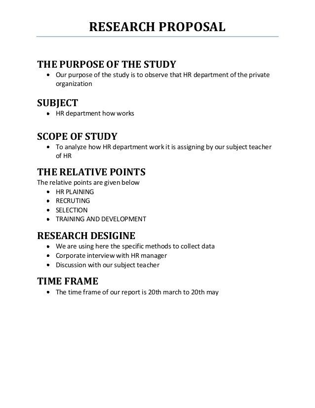 Research Proposal. Research Proposal Research Proposal Research ...