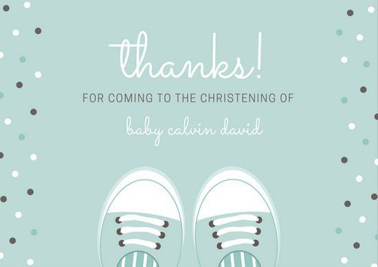 Christening Thank You Card Templates - Canva