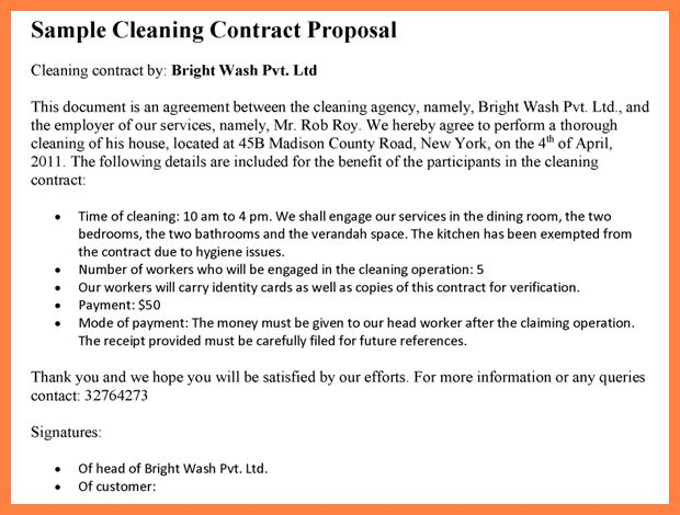 8+ cleaning services proposal sample | Bussines Proposal 2017