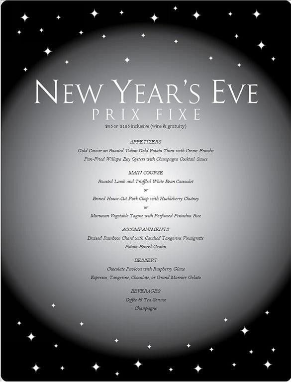 13+ New Year Menu Templates – Free PSD, EPS, Illustrator, PDF ...