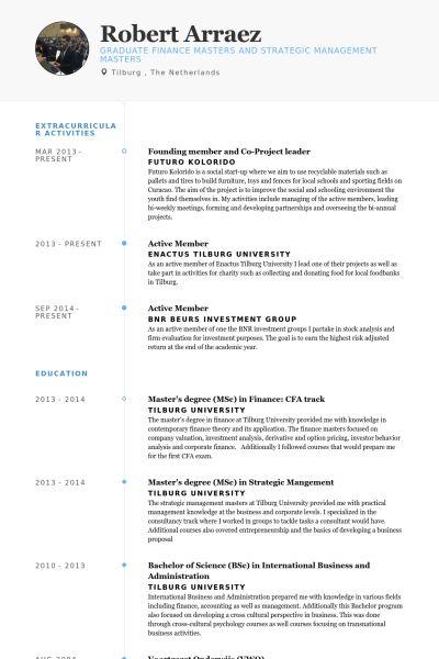 Project Leader Resume samples - VisualCV resume samples database