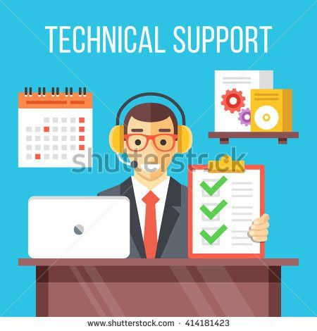 Technical Support Specialist Work Call Center Stock Vector ...