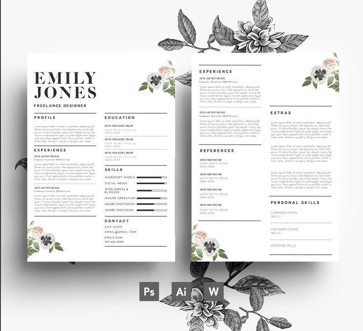 12 best Flower Resumes images on Pinterest | Cover letters, Cv ...
