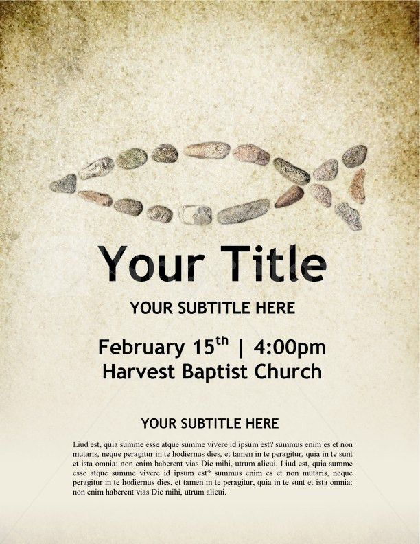 Fish Symbol Church Flyer Template Template | Flyer Templates