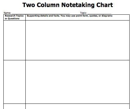 Note Taking Template Word | Template Design
