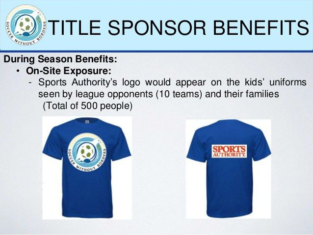 Soccer Without Borders Sponsorship Proposal