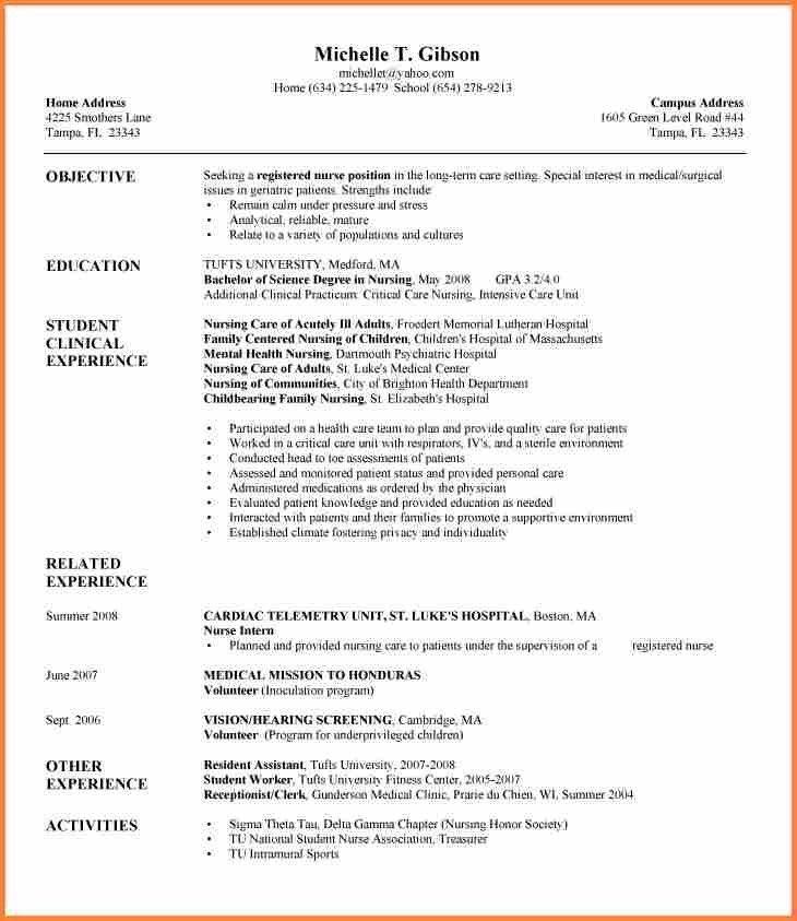 8+ new grad nursing resume template | Resume Template
