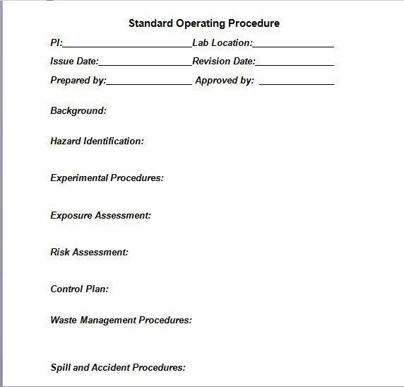 37 Best Free Standard Operating Procedure (SOP) Templates – Free ...