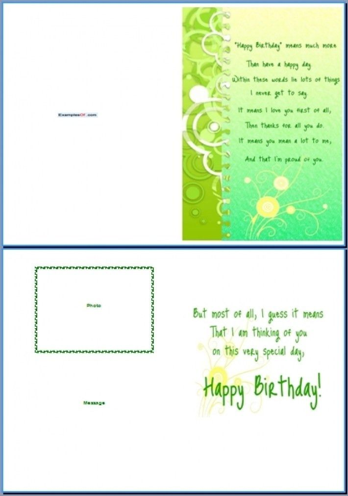 Greeting Card Template Word Free Greeting Card Template Word – Word Birthday Card Template