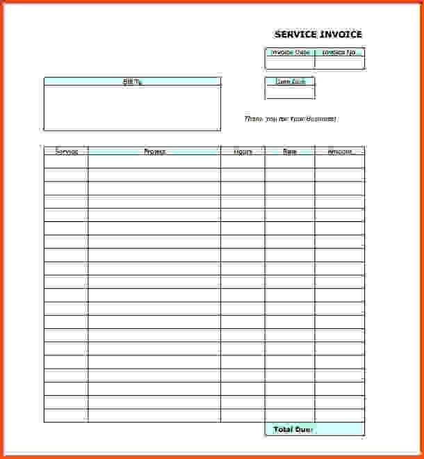 Invoice Templates Pdf.Blank Service Invoice Template Pdf.jpg ...