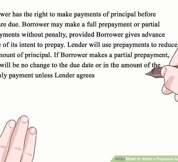 How To Write A Payment Agreement (With Pictures) – Wikihow ...