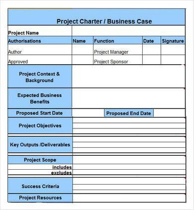 project-charter-Example.jpg 390×422 pixels | Project Management ...