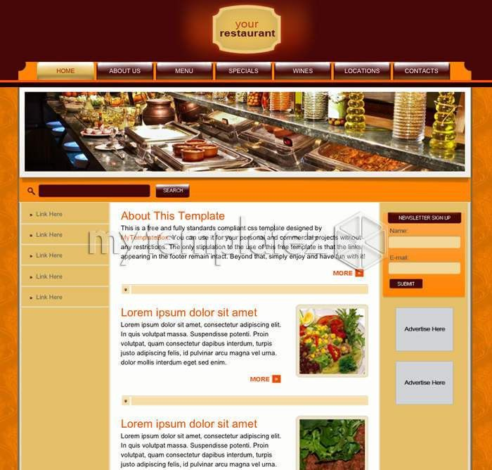 Free Templates CSS Templates Cafe/Restaurant Your Restaurant