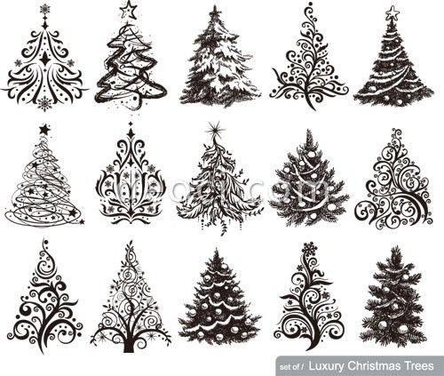 Xmas Tree Template. winter bulletin board displays and sticker ...