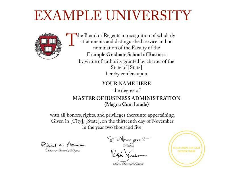 FAKE DIPLOMA TEMPLATE // D19 - Cheaper-than-Tuition!