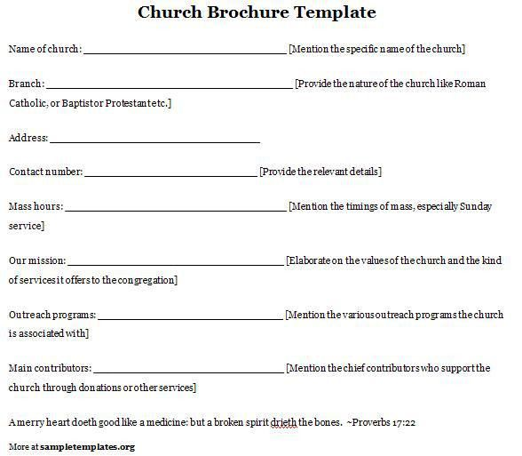 Church Program Template | cyberuse