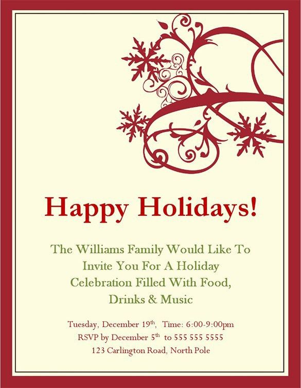 Christmas Invitation Template. Christmas-Invitation-20 · Christmas ...