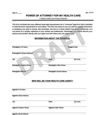 Medical Power of Attorney Form | Create a Free Healthcare POA ...