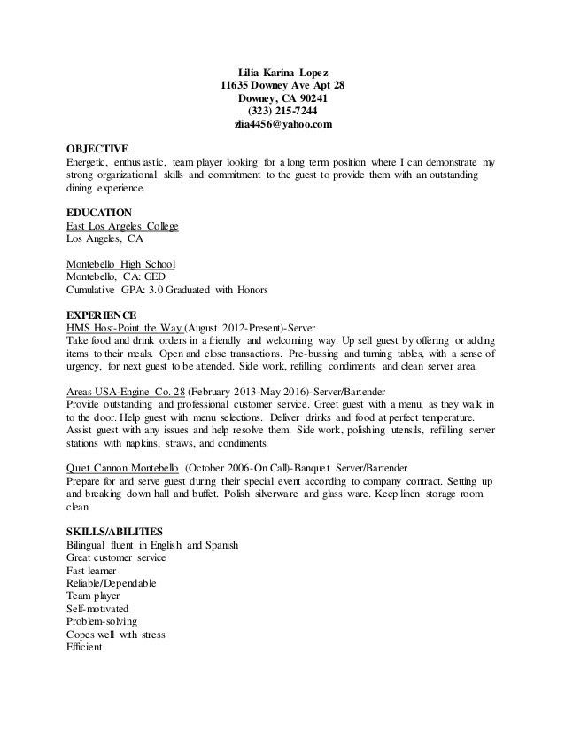 bartender server resume professional bartender server templates