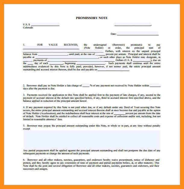 4+ promissory note template | resume setups
