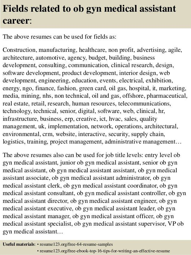 medical assistant in ob gyn office - Hallo