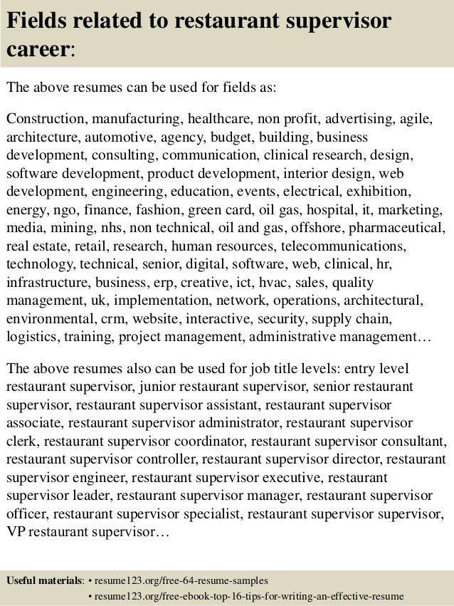 Sample Resume For Food Service Manager. food service resume 19 ...