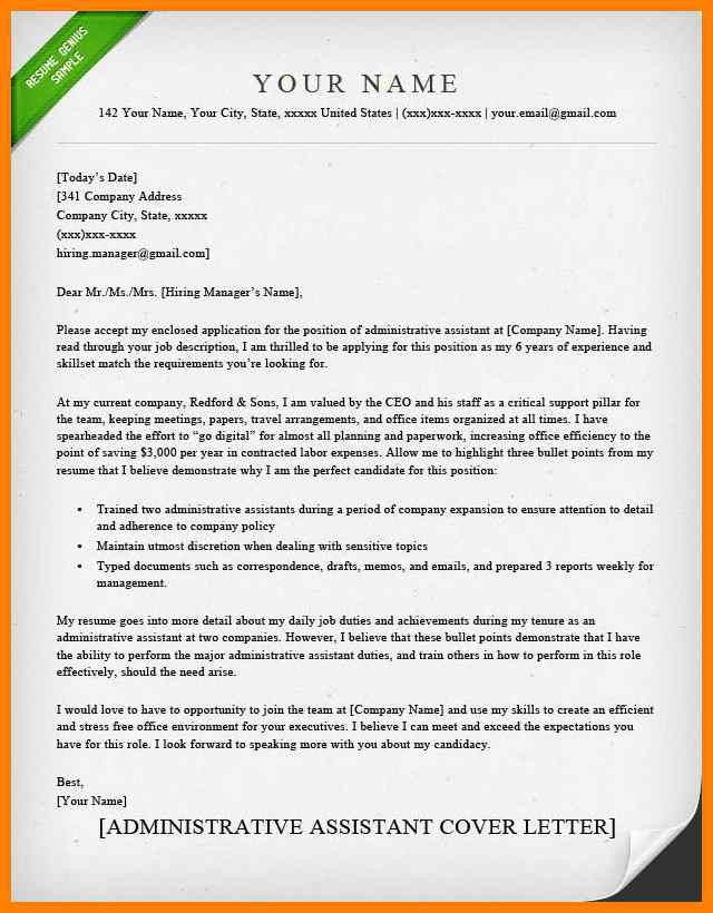 5+ cover letter administration | report examples